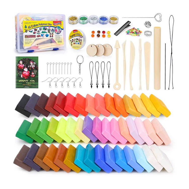 Polymer Clay Starter Kit with 46 Colors