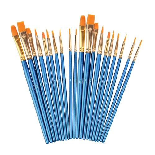 Acrylic Paint Brushes Set 20 Pcs