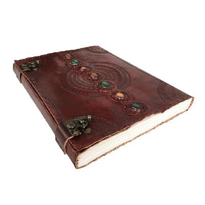Embossed Handmade Leather Journal