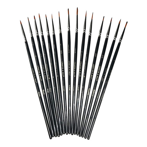 Paintbrushes 15 Piece Set for Detail Painting