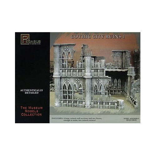 Gothic City Building Ruins