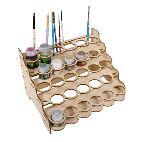 The Broken Token Modular Paint Rack
