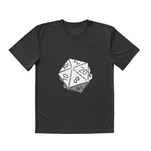 D20 Roleplaying Die Icosahedron Pixel Art T-Shirt