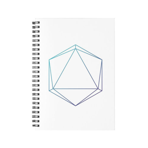 https://www.redbubble.com/i/notebook/D20-Roleplaying-Die-Icosahedron-Line-Art-Blue-Purple-Pattern-by-yisela/53513948.WX3NH