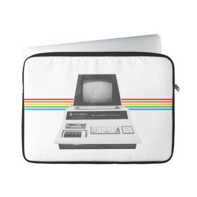 Retro Tech Commodore-Inspired PET Computer Art Laptop Sleeve