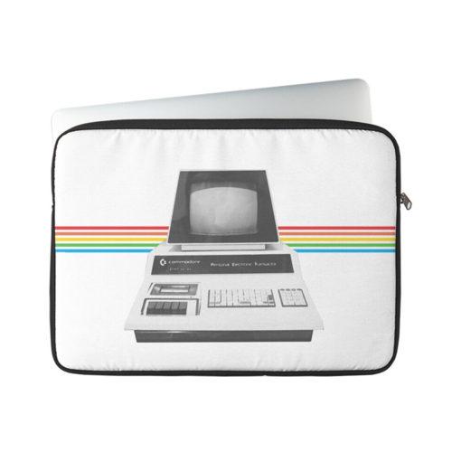 Retro Tech Commodore-Inspired PET Computer Art Laptop Sleeve