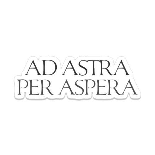 Roman Ad Astra Per Aspera Latin Motto Quote Sticker