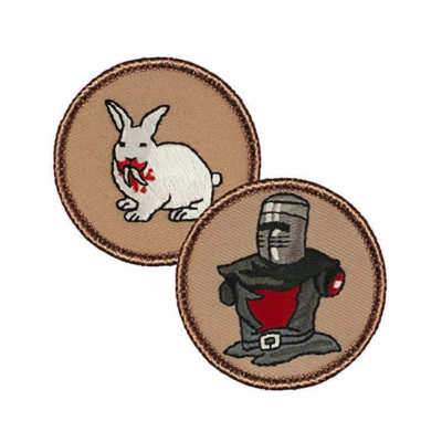 "Killer Rabbit Patch & Armless Knight 2"" Patches"
