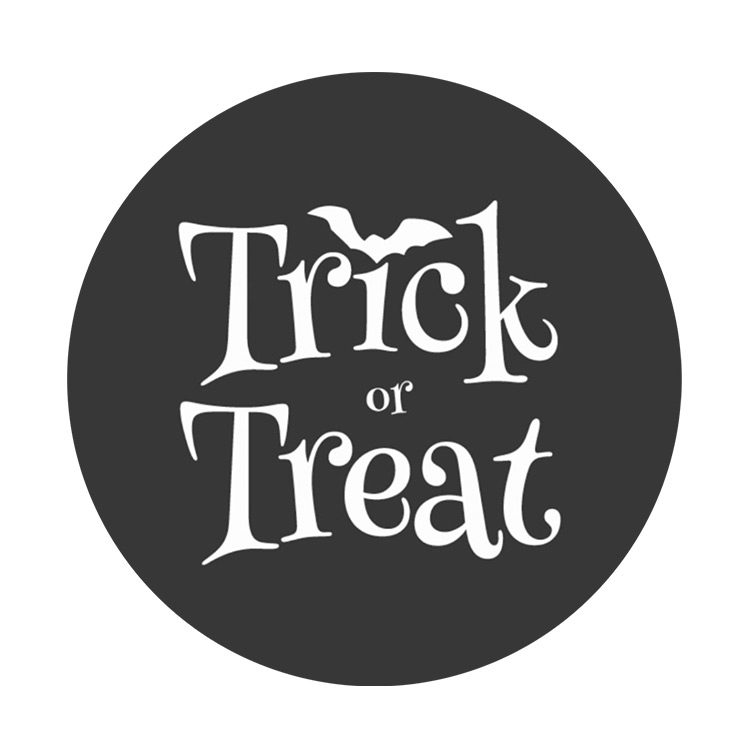 Halloween Trick or Treat Stickers Round