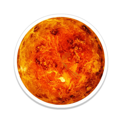 The Surface of Venus - Astronomical Photography Sticker