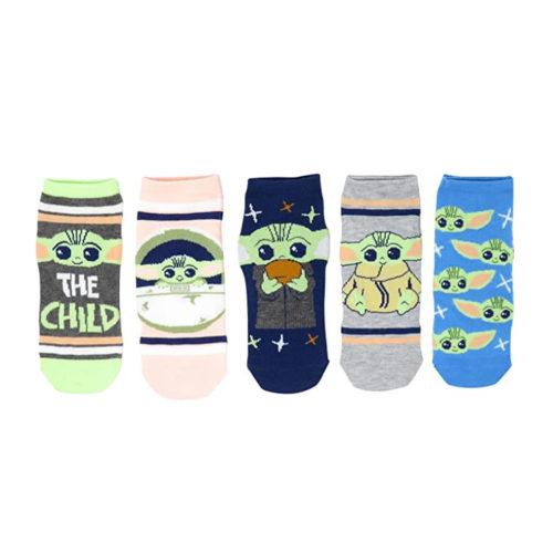 The Mandalorian Baby Yoda 5 Pack Ankle Socks