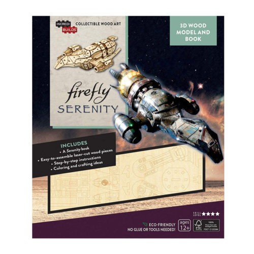 Firefly Serenity 3D Wood Puzzle & Model Figure Kit