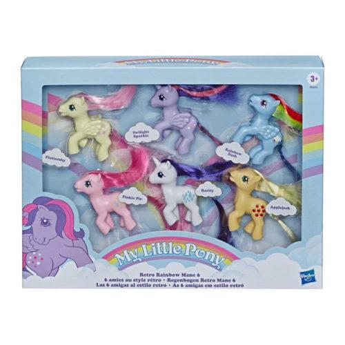 My Little Pony Retro Rainbow Mane 80s-Inspired Figures