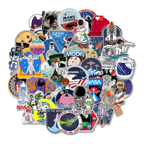 Space Exploration Sticker Set x100 Pieces