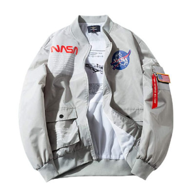 Apollo NASA Patches Bomber Jacket Windbreaker