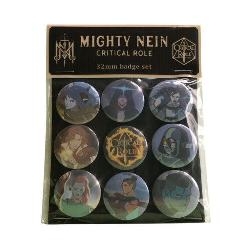 Critical Role: The Mighty Nein Badge Set of 9