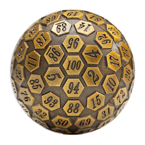 Orb of Predestined Fate: Giant Metal Polyhedral d100 Dice
