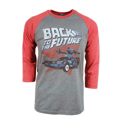 Back to The Future Red and Blue Raglan T-Shirt