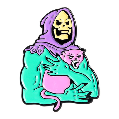 Masters of the Universe Skeletor Cat Enamel Pin