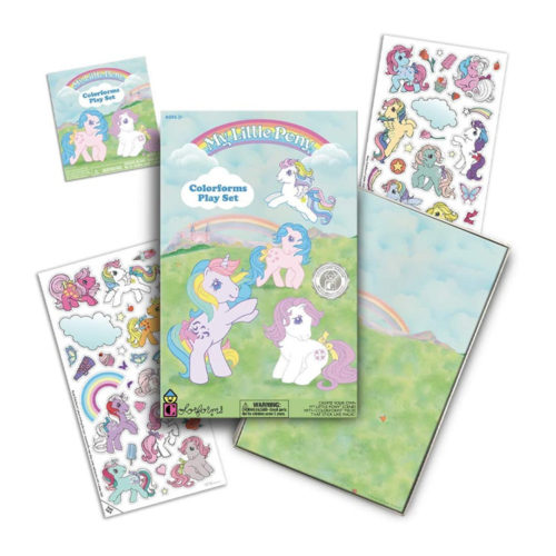 My Little Pony Sticker Sheets and Playset by Colorforms