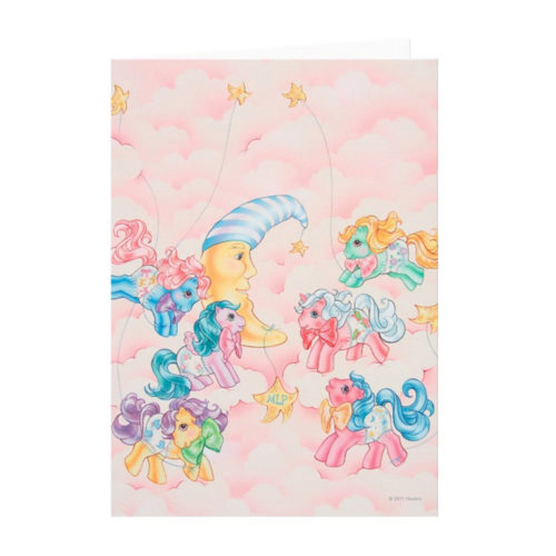 My Little Pony G1 Ponies in the Clouds Card