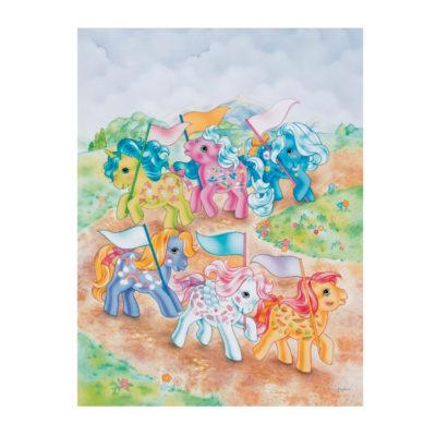 My Little Pony G1 Pony Parade Postcard
