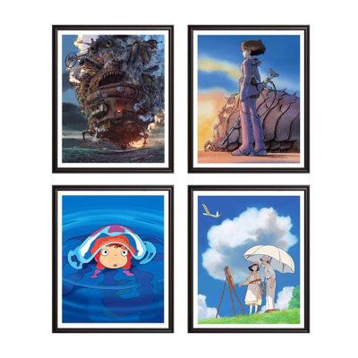 "Studio Ghibli Movies - Set of 4 Posters 8x10"" No Frame"