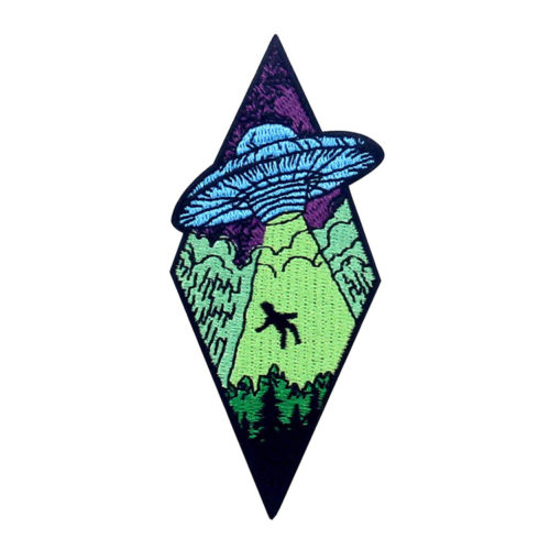 Beam Me Up X-File UFO Alien Embroidered Patch