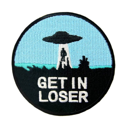 """""""Get in Loser"""" X-Files Embroidered Iron-On Sew-On Patch"""
