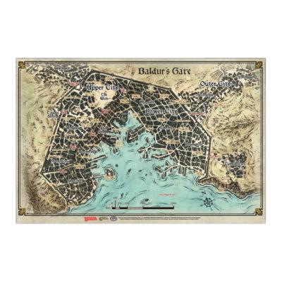 Baldur's Gate: Descent into Avernus Map Poster