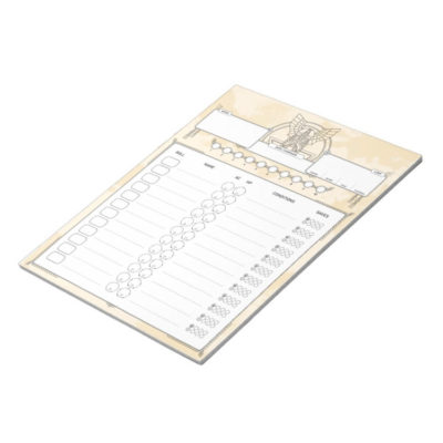 Dwarven Roleplaying Initiative Tracker DnD Notepad