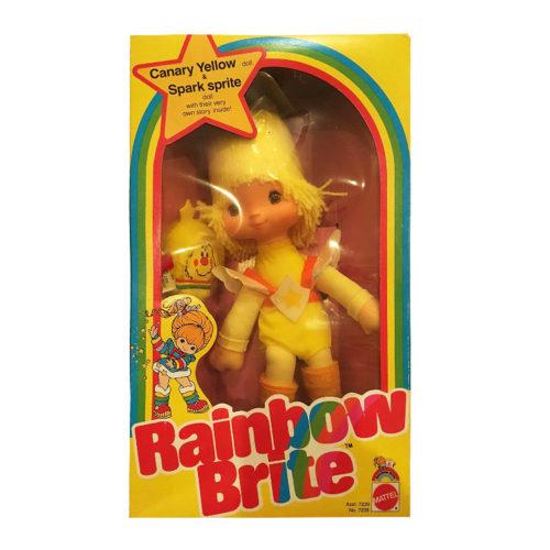 Vintage Rainbow Brite Doll Mattel Canary Yellow 1983