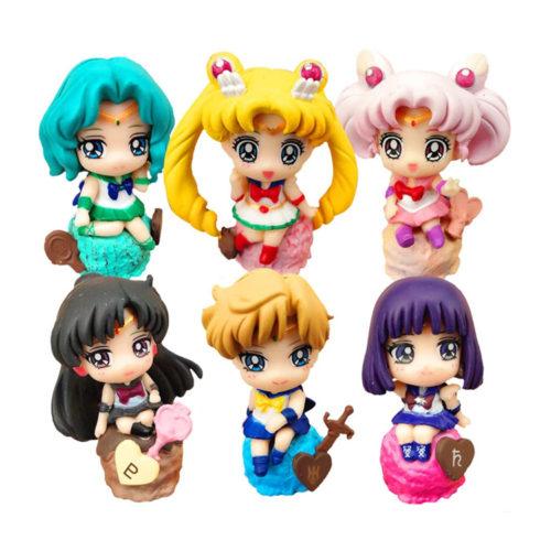Sailor Moon Figures Set of 6