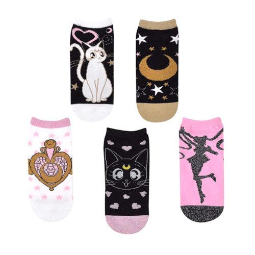 Sailor Moon Glittery Lowcut Socks (5 Pairs)
