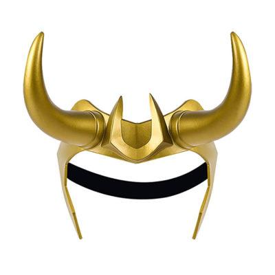 Adjustable Loki Helmet Cosplay with Removable Horns